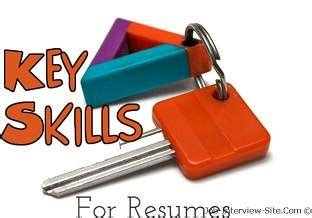Curriculum vitae technical skills
